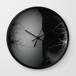 Branching Into Darkness Wall Clock