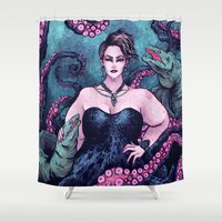 ursula Shower Curtains featuring Ursula by Angela Rizza