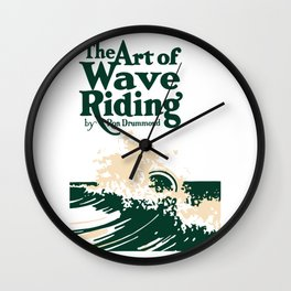 The Art of Wave Riding 1931, First Surfing Book Artwork, for Wall Art, Prints, Posters, Tshirts, Men, Women, Kids Wall Clock