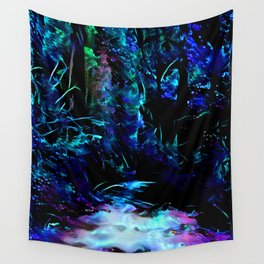 Blacklight Dreams of the Forest Wall Tapestry
