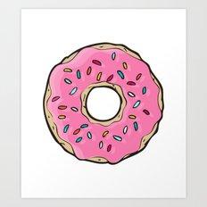 Doughnut Art Print