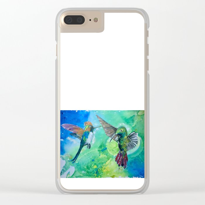 Hummingbird Heaven Clear iPhone Case