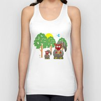 kangaroo Tank Tops featuring Kangaroo by Design4u Studio