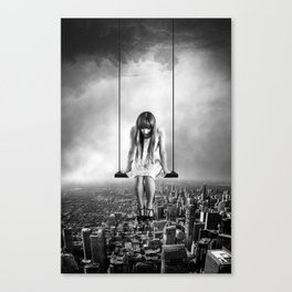 Girl Looking from Above Canvas Print