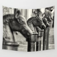 horses Wall Tapestries featuring Horses by Edith K. Photography