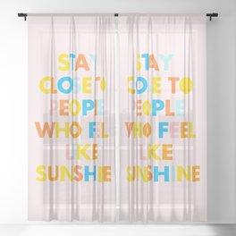 Sunshine People Sheer Curtain