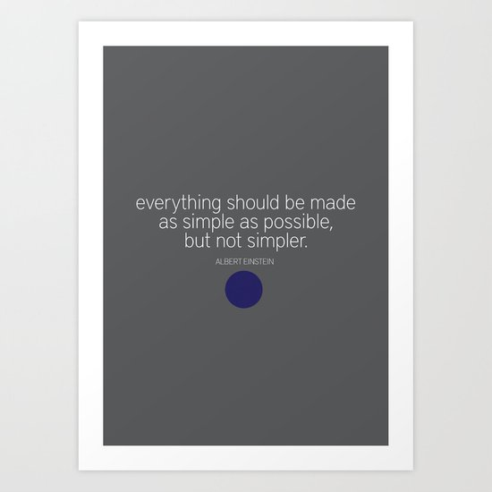 Simple Art Print