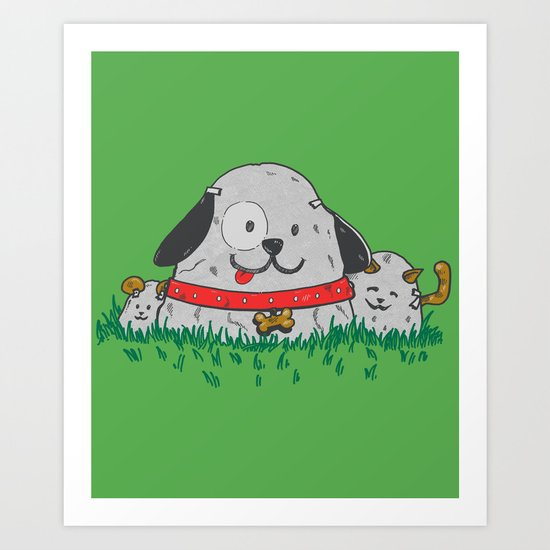 Pet Rocks Art Print