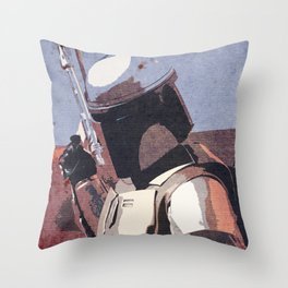 Bobba Fett | The Bounty Hunter | Star War Art Throw Pillow