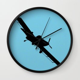 Crop Duster Silhouette Wall Clock