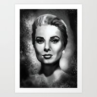 grace Art Prints featuring Grace by Lily Fitch