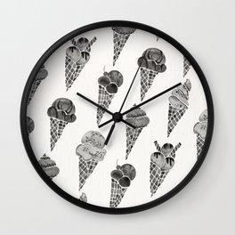 Ice Cream Cones – Black Palette Wall Clock
