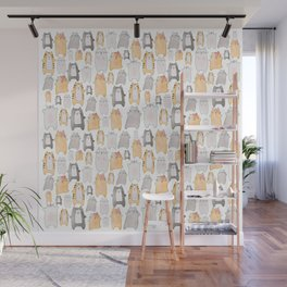 cat nation collage - gold Wall Mural