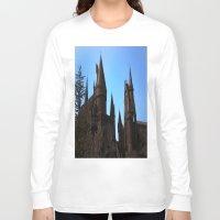 hogwarts Long Sleeve T-shirts featuring Hogwarts by Blue Lightning Creative