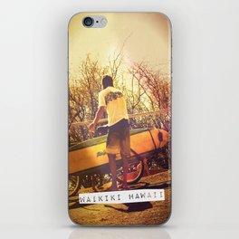 The surfer boy iPhone Skin