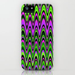 Making Waves Neon Lights iPhone Case