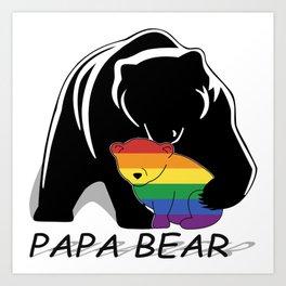 Papa Bear Gay Art Print