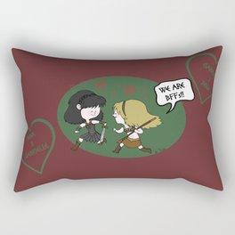 Heroic BFFs!! Rectangular Pillow