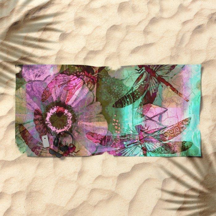 Dragonflies in a Dream Beach Towel