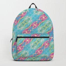 Sea Ride Diagonal Stripes Backpack