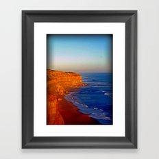 Sunsets on the limestone Cliffs Framed Art Print