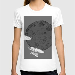 Around the Moon Grey and White Textured Version #5 T-shirt