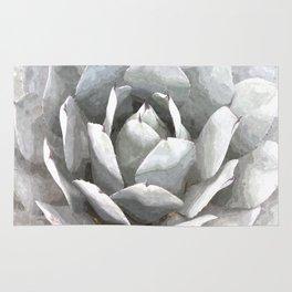 Succulent cactus watercolor Rug