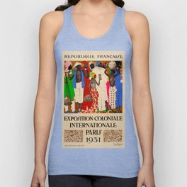 Exposition Coloniale Travel Poster Unisex Tank Top