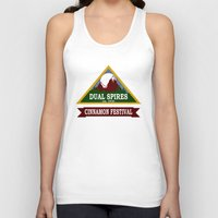 spires Tank Tops featuring Psych - Dual Spires Cinnamon Festival by Fried Egg