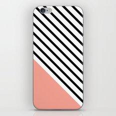 Diagonal Block - Pink iPhone & iPod Skin