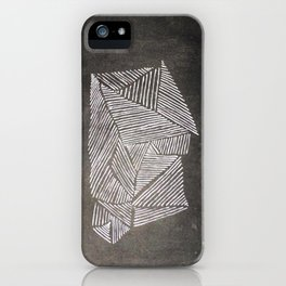 Black and White  Lines iPhone Case
