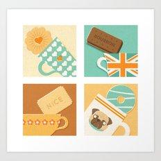 Tea and Biscuits Art Print