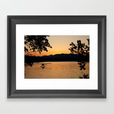 Sunset at Hood Canal Framed Art Print