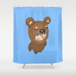 Furry baby Shower Curtain