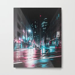 Frankfurt Night City Metal Print