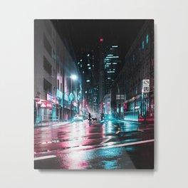 Frankfurt Night City Metal Print