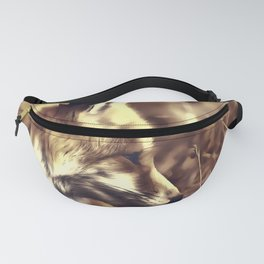 red fox acrylic four reacfn Fanny Pack