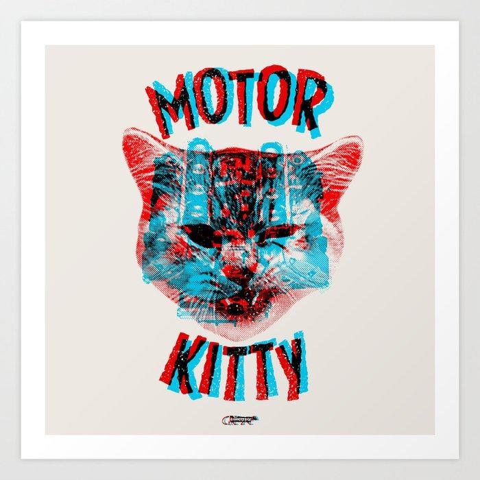 Motor Kitty Art Print