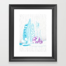 The rain from beyond Framed Art Print