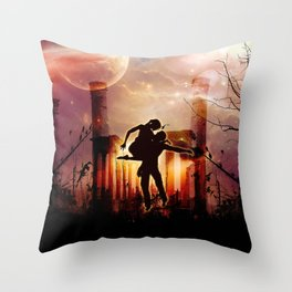 Dancing in the night Throw Pillow