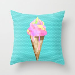 Ice cream Cone Throw Pillow
