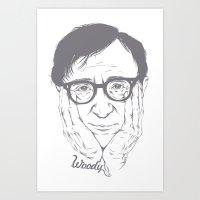 woody allen Art Prints featuring Woody Allen by Mai Gisselle Evangelista
