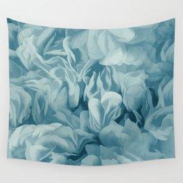 Soft Baby Blue Petal Ruffles Abstract Wall Tapestry