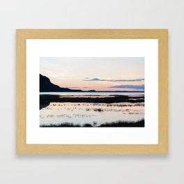 Sunset in Iceland - nature landscape Framed Art Print