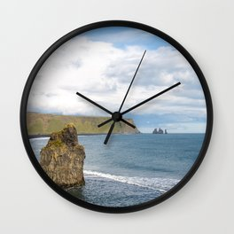 Reynisfjara beach - landscape photography Wall Clock