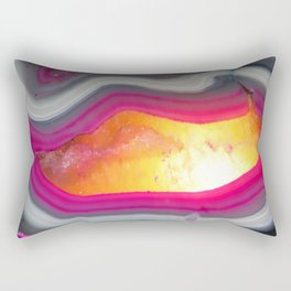 Pink Geode Glow Rectangular Pillow