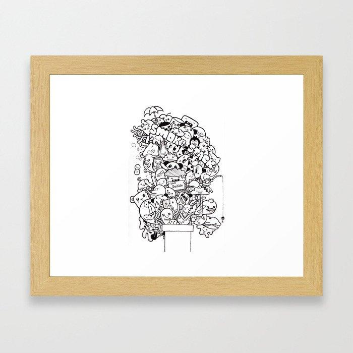 Ink Stack Framed Art Print