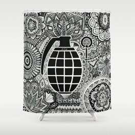 Fire in the hole !  Shower Curtain