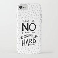 work hard iPhone & iPod Cases featuring Hard Work by Sean Coady