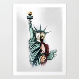 Kaws poster Art Print